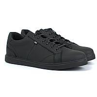Мужские кроссовки кожаные матово-черные кеды обувь демисезонная Rosso Avangard Puran Mate Monza Black, фото 1