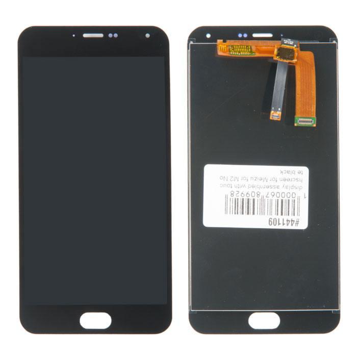 Дисплей для Meizu M2 Note черный (LCD экран, тачскрин, стекло в сборе)