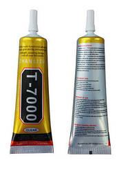 Клей-герметик T7000 для приклеивания рамок, тачскрина / Клей T-7000 черный (50 мл)