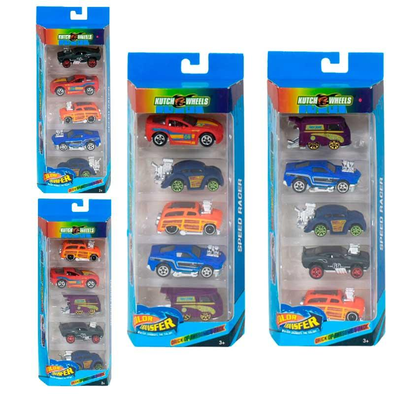 _x000D_ Набор машин металлопластиковых PBS 868-5, смена цвета, 5штук