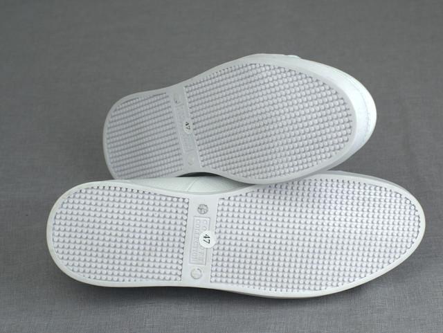 Мужские кроссовки кожаные белые кеды обувь больших размеров Rosso Avangard Puran White Leather BS