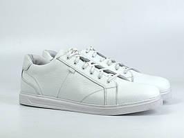 Кроссовки мужские белые кожаные кеды обувь больших размеров Rosso Avangard Puran White Leather BS