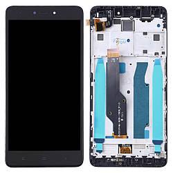 Дисплей для Xiaomi Redmi Note 4X чорний (LCD екран, тачскрін, рамка, скло в зборі), Дисплей для Xiaomi Redmi