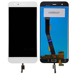 Дисплей для Xiaomi Mi-6 білий (LCD екран, тачскрін, скло в зборі), Дисплей для Xiaomi Mi-6 білий (LCD екран,