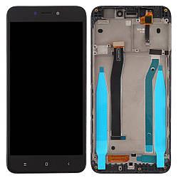 Дисплей для Xiaomi Redmi 4X черный (LCD экран, тачскрин, рамка, стекло в сборе), Дисплей для Xiaomi Redmi 4X