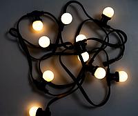 Уличная гирлянда  5м.10хЕ27 Белт-Лайт (плоский провод) без ламп, фото 1