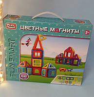 Дитячий магнітний конструктор Play Smart Кольорові магніти 66 дет., 2464