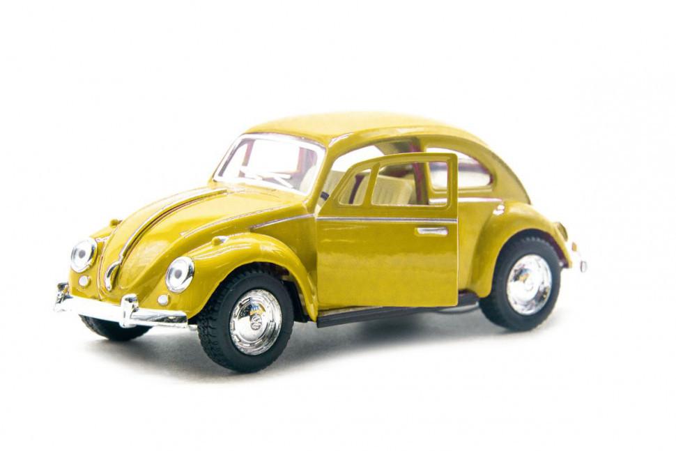 Игрушечная машинка металлическая Kinsmart KT5057W Volkswagen Classical Beetle Желтый