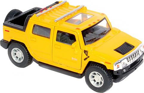 Игрушечная машинка металлическая Kinsmart KT5097W Hummer H2 Желтый
