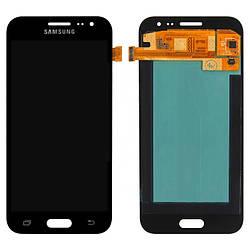 Дисплей для Samsung J200F Galaxy J2 чорний (LCD екран, тачскрін, скло в зборі), Дисплей для Samsung J200F
