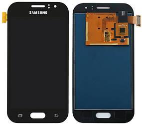 Дисплей для Samsung J110H Galaxy J1 Ace черный (LCD экран, тачскрин, стекло в сборе), Дисплей для Samsung