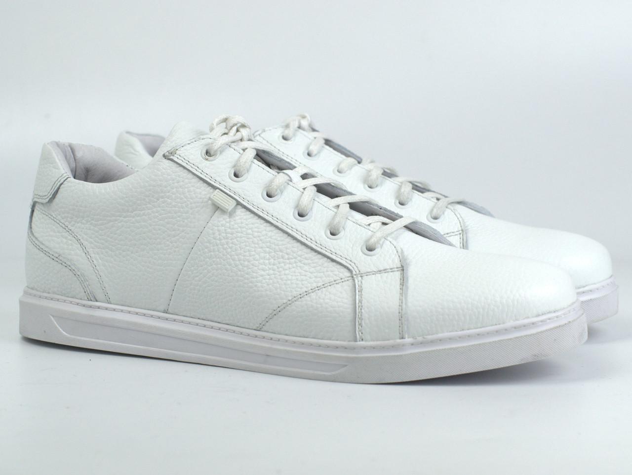 Кроссовки кеды повседневные белые мужские кожаные обувь весна лето Rosso Avangard Puran White Leather