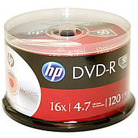 Диск DVD Cake HP 4,7 Gb, 16x, 50 шт шпинделе + конверт, фото 1