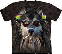 Футболка The Mountain - Smoking Rasta Wolf
