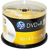 Диск DVD Cake HP 4,7 Gb, 16x, 50 шт шпинделе + конверт DVD+R, фото 1