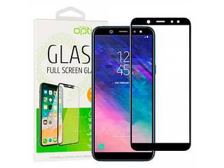 Захисне скло Optima 3D Samsung A600 Galaxy A6 2018 чорне, Захисне скло Optima 3D Samsung A600 Galaxy A6