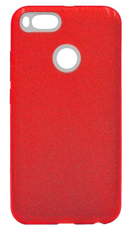 Чохол силіконовий Remax Glitter Xiaomi Mi А1/ Мі 5Х червоний, Чохол для Xiaomi Mi A1 червоний