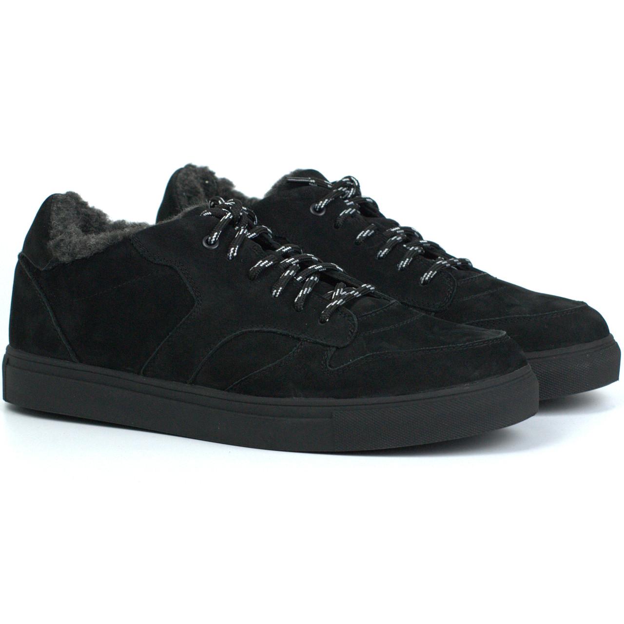 Кросівки шкіряні на хутрі м'які нубукові чоловіче взуття великих розмірів Rosso Avangard Winter ReBaKa NUB BS