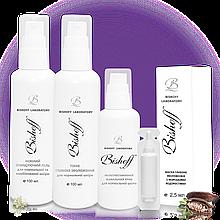 Набір Bishoff  Базовий догляд для нормальної шкіри на 1 місяць 100 мл/100 мл/30 мл/2,5 мл /
