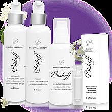 Набір Bishoff  Базовий догляд для нормальної шкіри на 2 місяці 200 мл/200 мл/60 мл/2,5 мл /