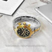 Часы мужские наручные механические с автоподзаводом Rolex Daytona Automatic Silver-Gold Реплика ААА Ролекс, фото 3