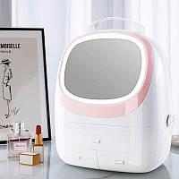 Пластиковый органайзер для косметики с зеркалом и подсветкой TV-203