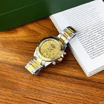 Часы мужские наручные механические с автоподзаводом Rolex Daytona Automatic Silver-Gold Реплика ААА Ролекс, фото 2