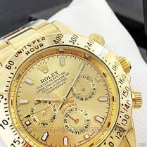 Часы мужские наручные механические с автоподзаводом Rolex Daytona Automatic All Gold Реплика Ролекс, фото 2