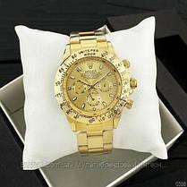 Часы мужские наручные механические с автоподзаводом Rolex Daytona Automatic All Gold Реплика Ролекс, фото 3