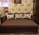 Диван с механизмом еврокнижка НАДЕЖДА ПЛЮС Спальный диван для сна Бежевый/ Коричневый/Серый, фото 4