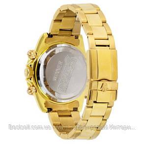 Часы мужские наручные механические с автоподзаводом Rolex Daytona Automatic Gold-White Реплика ААА Ролекс, фото 2
