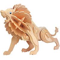 3D-пазл Игрушки из дерева Лев Е013, КОД: 2436570