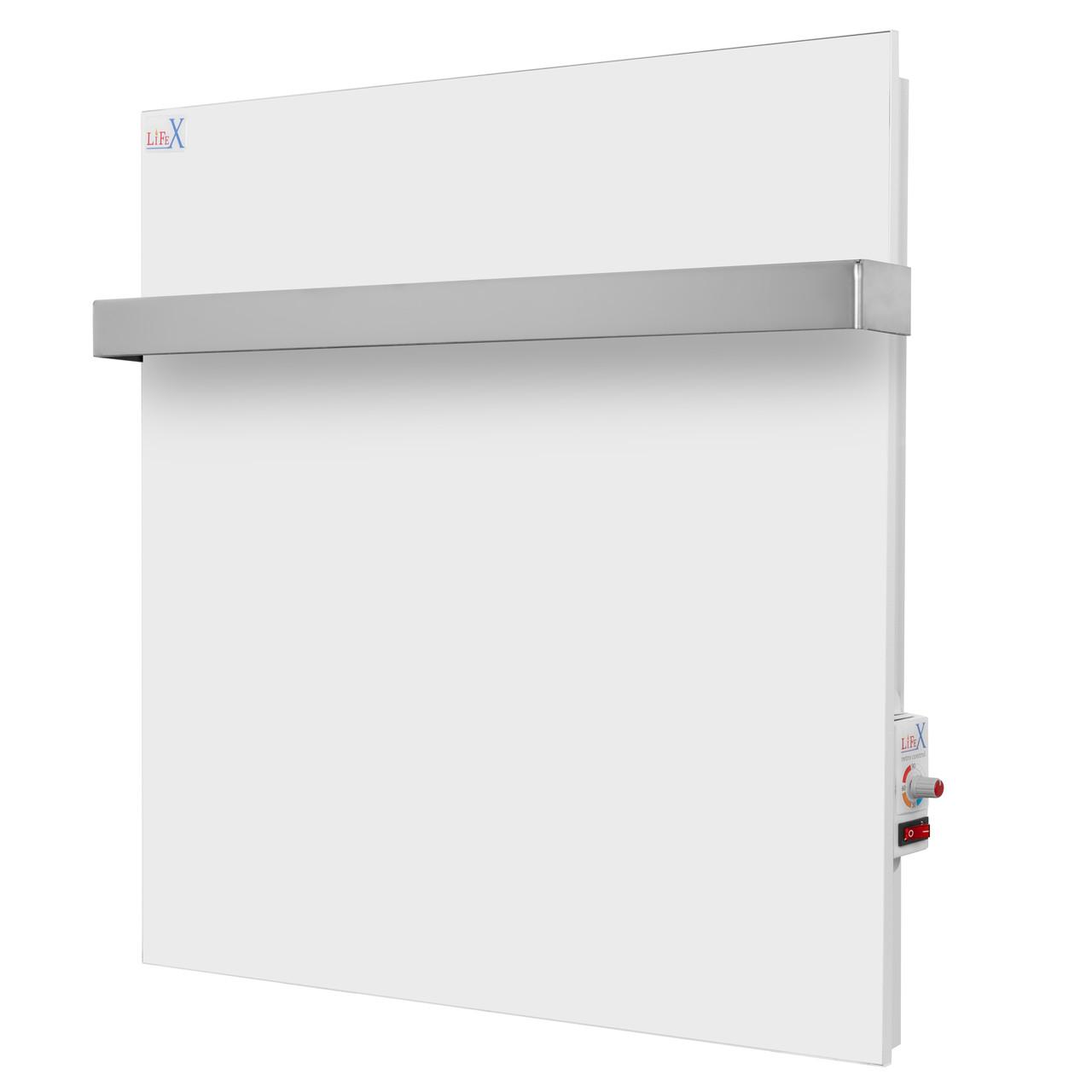 Керамический полотенцесушитель для ванной LifeX ПСК 400R белый (с механическим терморегулятором)