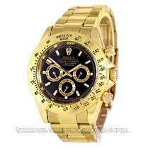 Часы мужские наручные механические с автоподзаводом Rolex Daytona Automatic Gold-Black Реплика ААА Ролекс, фото 2