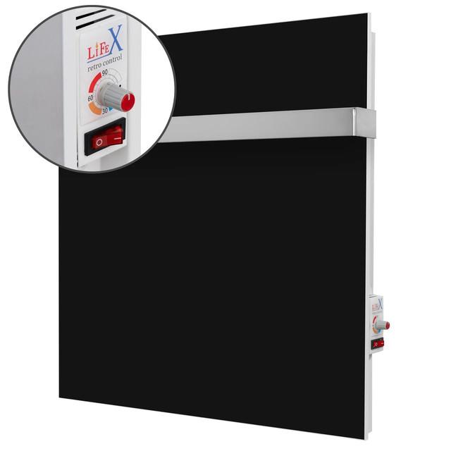 Основные преимущества керамического полотенцесушителя LifeX ПСК 400R чёрный