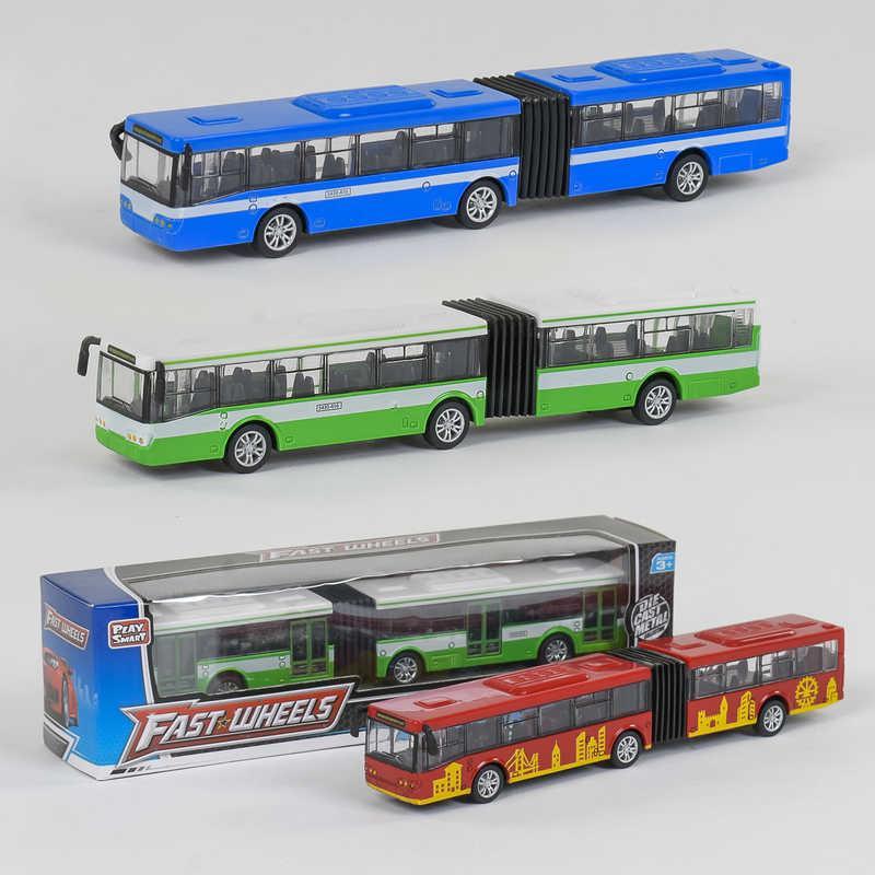 Автобус металлопластик 6576 (96/2) 3 вида, инерция, в коробке