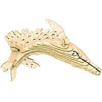 3D пазл Игрушки из дерева Горбатый кит Ш001, КОД: 2436597