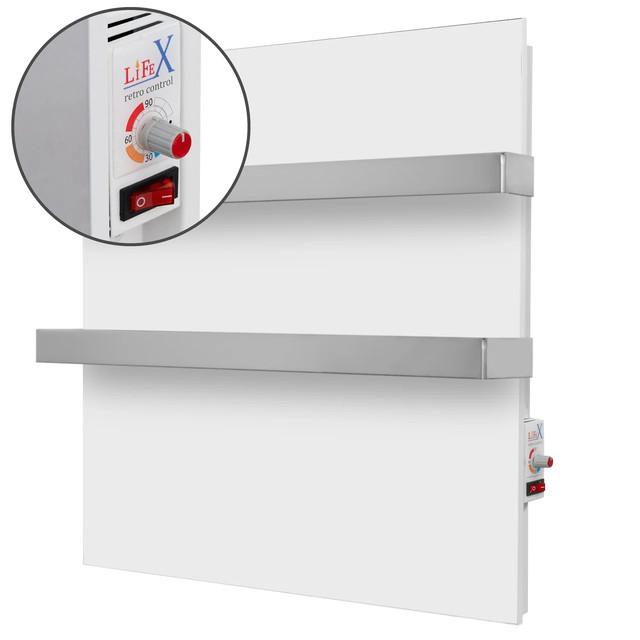 Основные преимущества керамического полотенцесушителя LifeX ПСК 400R DUO белый