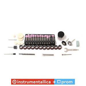 Набір аксесуарів для міні-дрилів 80 предметів у пластиковому кейсі RF-GSK080 Rock Force