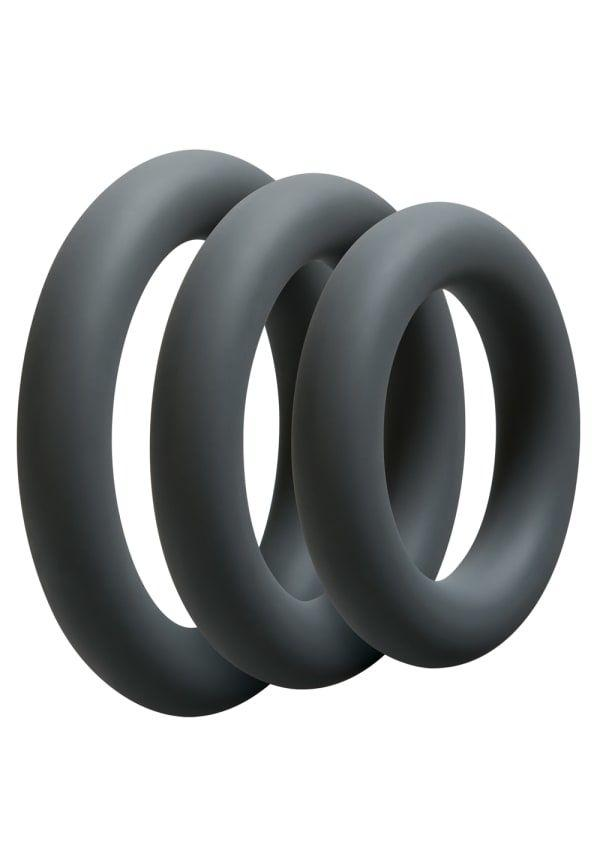 Набор эрекционных колец Doc Johnson OptiMALE 3 C-Ring Set Thick