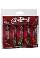 Смазка-гель для орального секса Doc Johnson GoodHead, набор 5х29мл, клубника, вишня, арбуз, мята, яб, фото 2