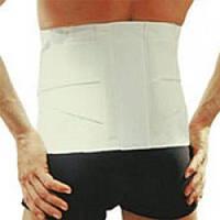 Бандаж поддерживающий для спины с ребрами жесткости, тип 213, размер XXL, цвет белый