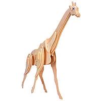 Игрушки из дерева Мир деревянных игрушек 3D пазл Жираф М020, КОД: 2436464