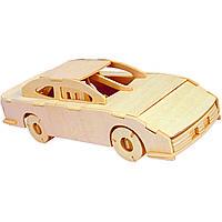 Игрушка из дерева Мир деревянных игрушек 3D пазл Гоночный автомобиль 1 П143, КОД: 2443649