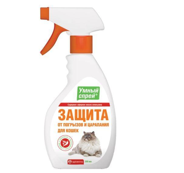Умный спрей Api-San/Apicenna Защита от погрызов и царапин для котов 200 мл