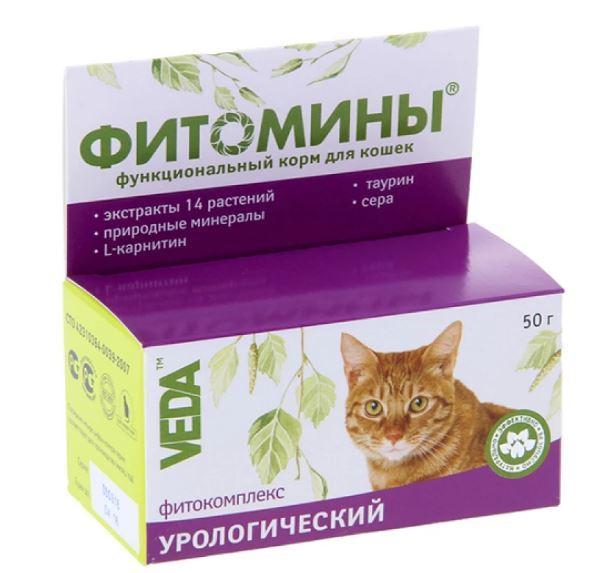 Таблетки Veda Фитомины с урологическим фитокомплексом для кошек 100 табл