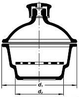 Эксикатор без крана 2-180мм BORO, ТС