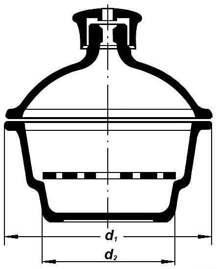 Эксикатор без крана 2-240мм BORO, ТС