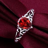 """Кольцо Swarovski """"Красная капля"""", фото 1"""