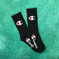 Шкарпетки Високі Жіночі Чоловічі Champion Чорні 37-45